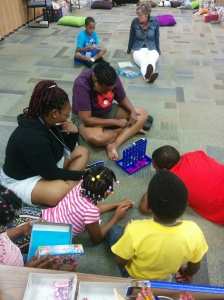 During free time, Connect Four was easily the most popular game, and the adults and teens enjoyed it, too!
