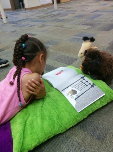 She didn't like reading before the program, but by the end her mother told us she was  spontaneously reading at home!